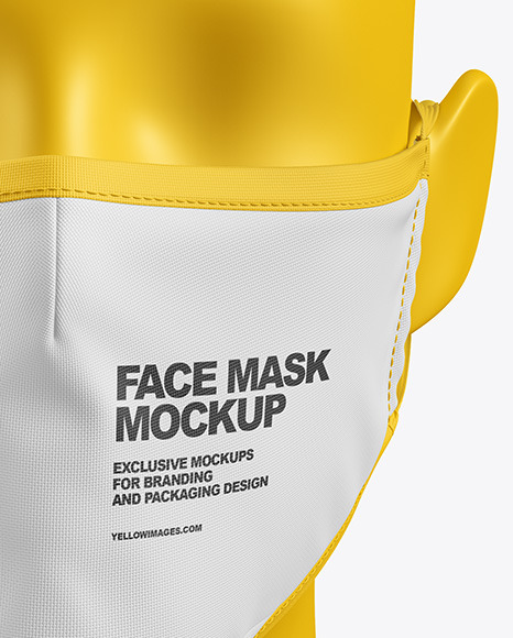 Face Mask with Valve Mockup