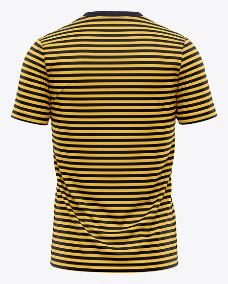 Men's Crew Neck T-Shirt Mockup - Back View