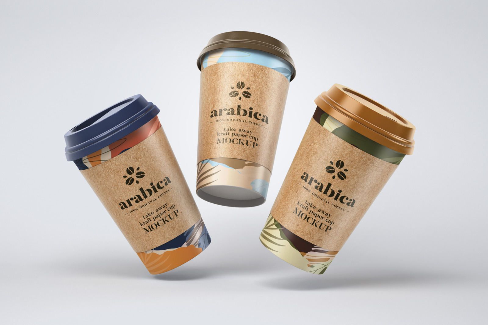 Take Away Paper Coffee Cup Mockup Set