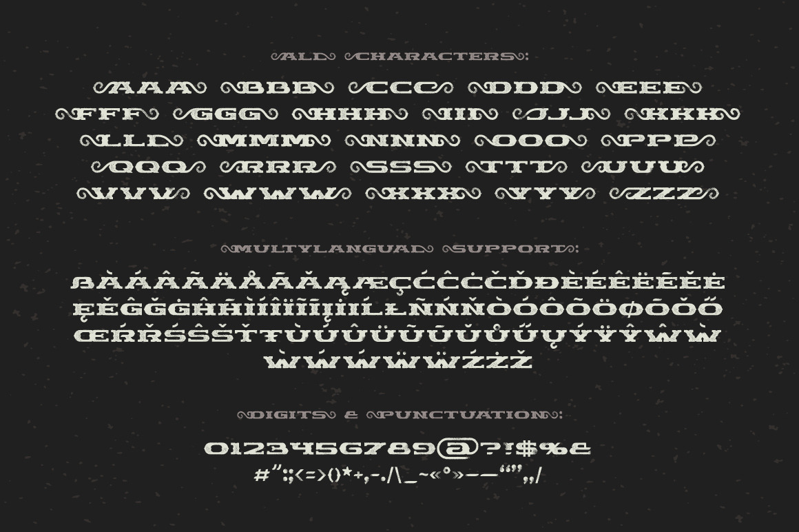 Chimera Tail, font + illustration