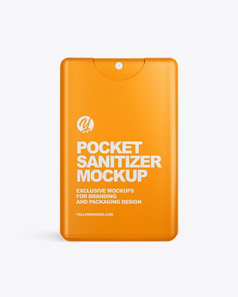 Download Pocket Sanitizer Mockup In Packaging Mockups On Yellow Images Object Mockups PSD Mockup Templates