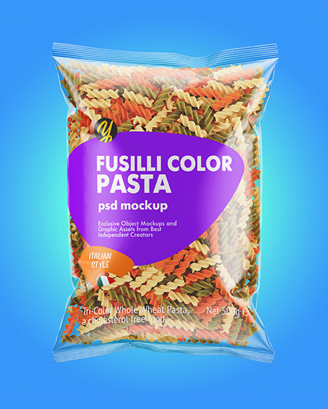 Download Fusilli Pasta Package Mockup - Free PSD Mockups