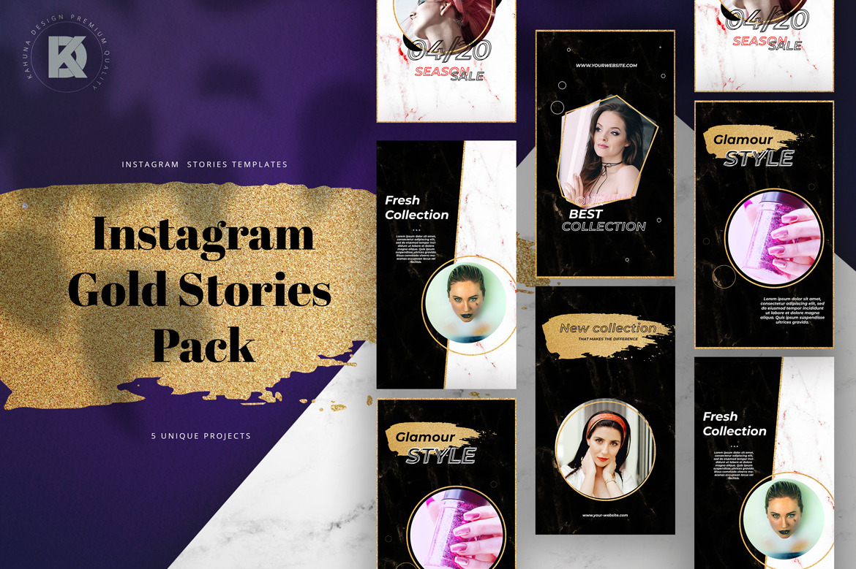 Gold Instagram Stories