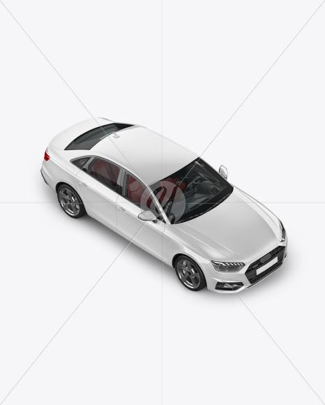 Sedan Mockup - Half Side View (high angle shot) - Yellowimages Mockups