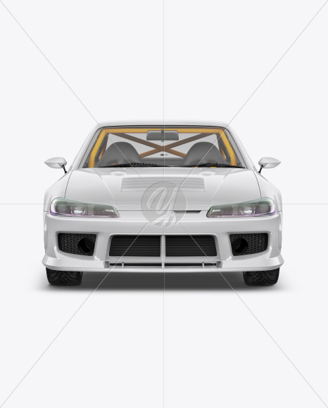 Sport Car Mockup - Front View - Yellowimages Mockups