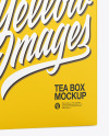 Tea Box Mockup - Half Side View