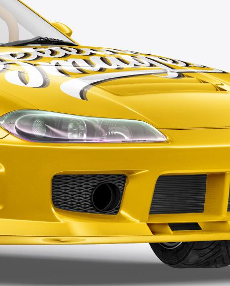 Sport Car Mockup -Half Side View