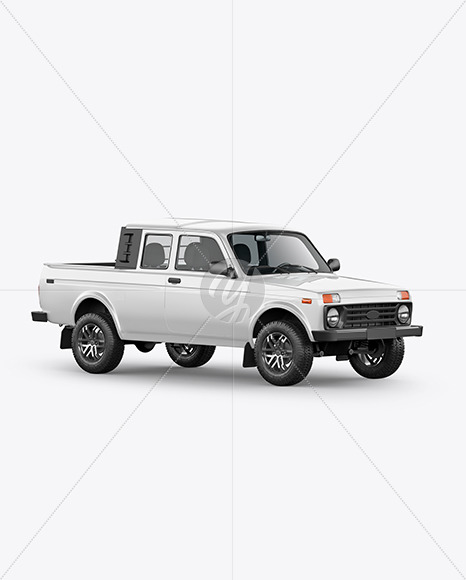 Pickup Truck Mockup - HalfSide View - Yellowimages Mockups