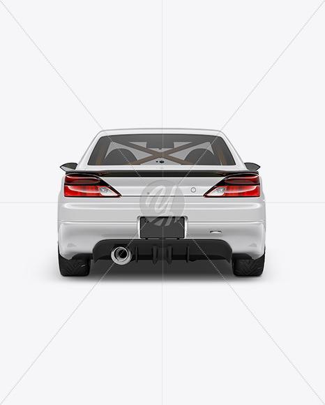 Sport Car Mockup - Back View - Yellowimages Mockups