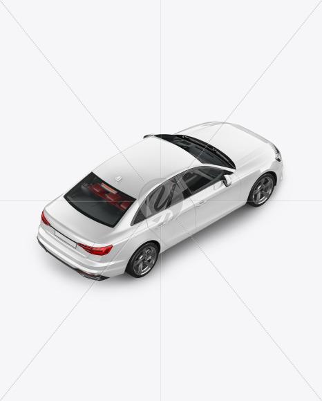 Sedan Mockup - Back Half Side View (high angle shot) - Yellowimages Mockups