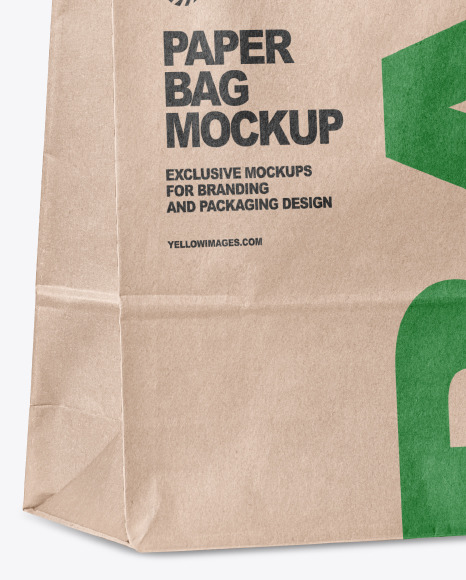 Download Paper Bag Mockup Yellow Author PSD Mockup Templates