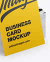 Stack of Paper Business Cards Mockup