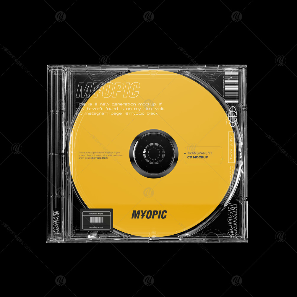Download Transparent Cd Case In Packaging Mockups On Yellow Images Creative Store PSD Mockup Templates
