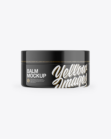 Glossy Lip Balm Jar Mockup