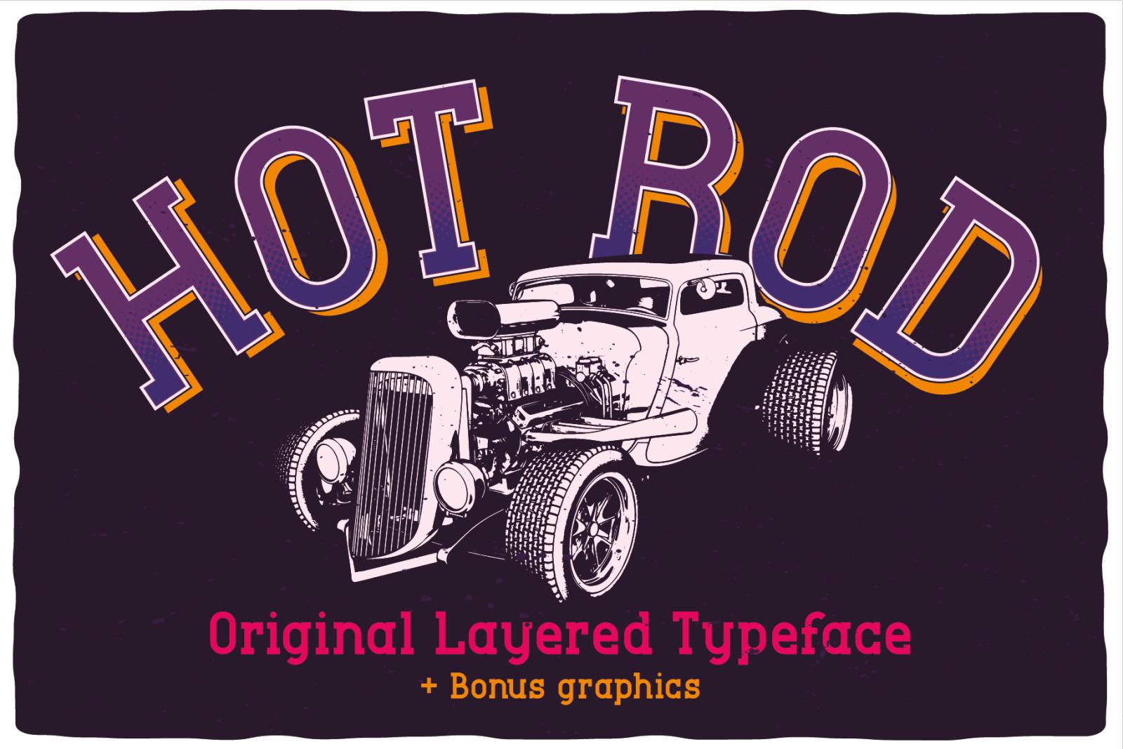 Hot Rod Layered Font