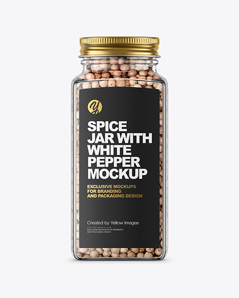 Spice Jar with White Pepper Mockup