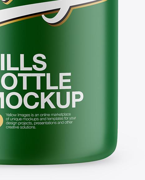 Matte Pills Bottle Mockup