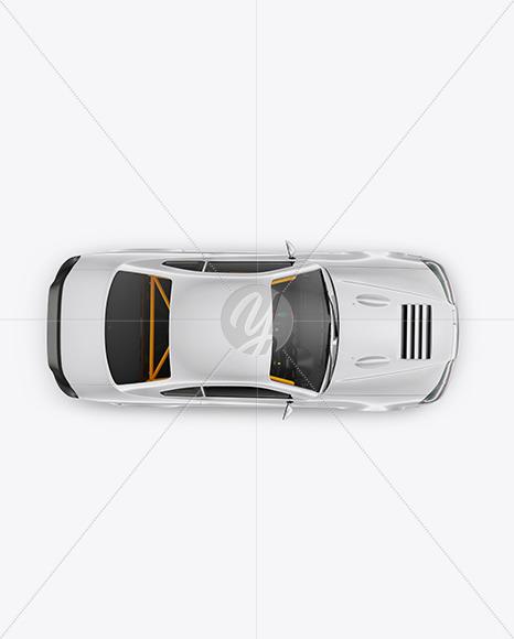 Sport Car Mockup - Top View - Yellowimages Mockups