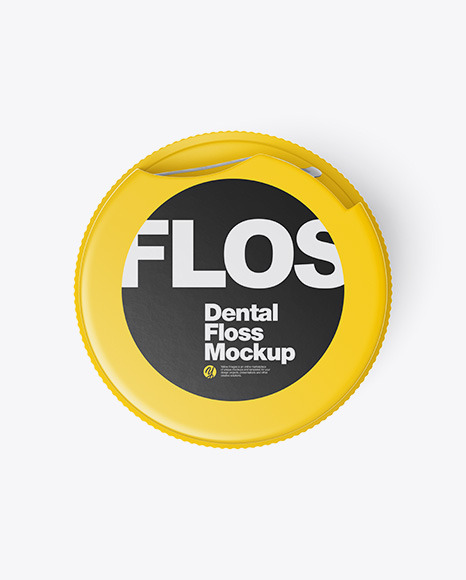 Dental Floss Mockup - Top View