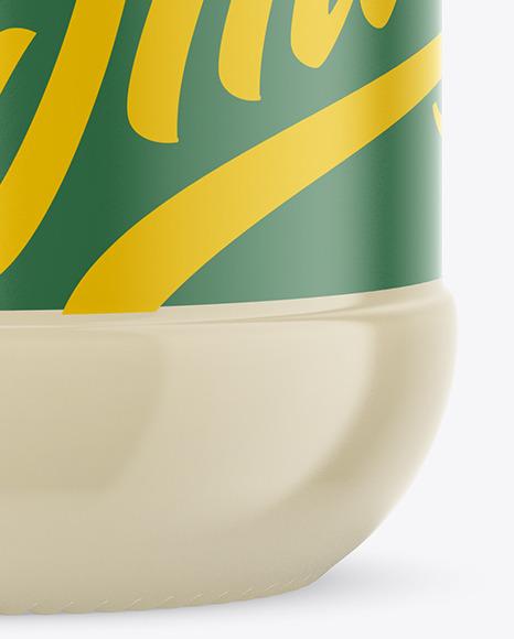 Clear Glass Mayonnaise Sauce Jar Mockup