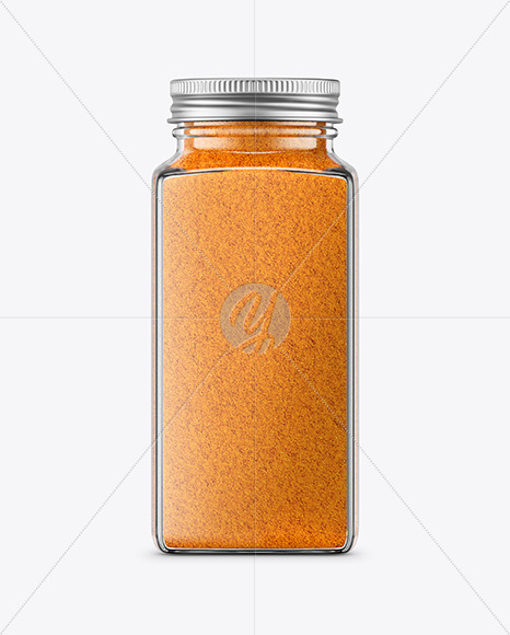 Download Spice Jar with Curry Mockup in Jar Mockups on Yellow ...