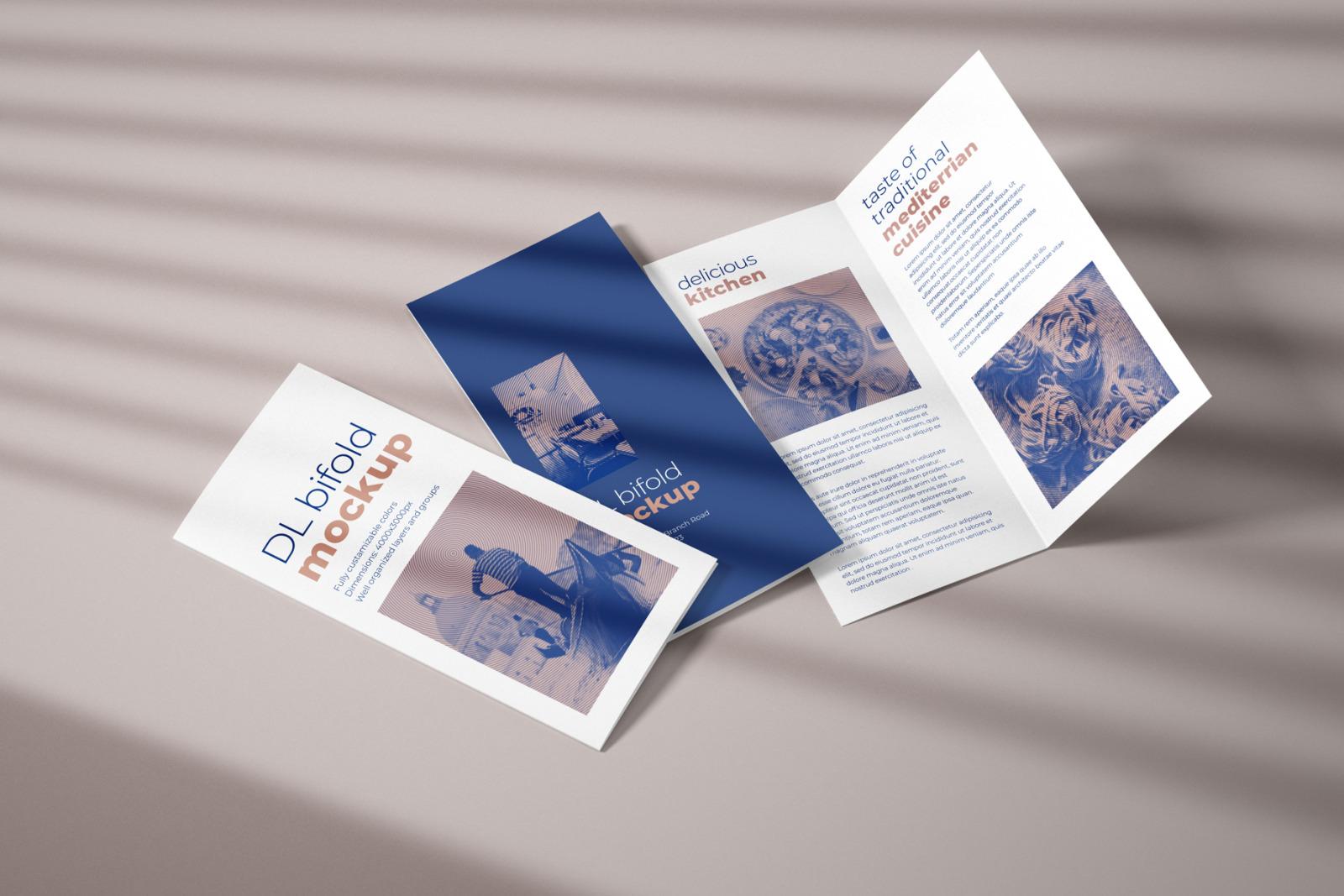 DL Bifold Brochure Mockup Set