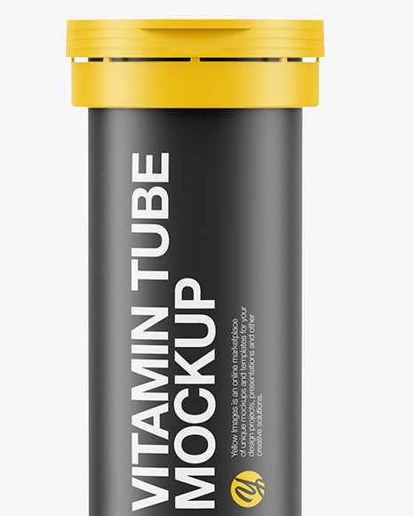 Download Matte Vitamin Tube Mockup In Tube Mockups On Yellow Images Object Mockups Yellowimages Mockups