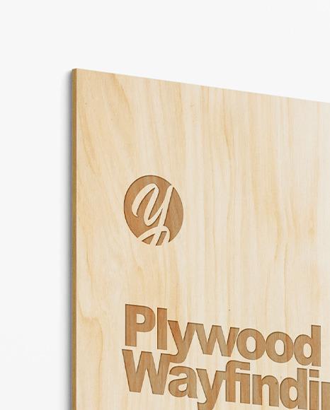 Plywood Wayfinding Mockup