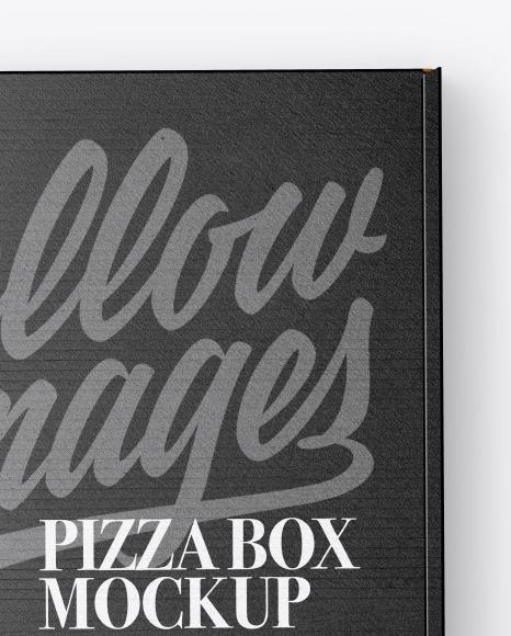 Closed Cardboard Pizza Box Mockup