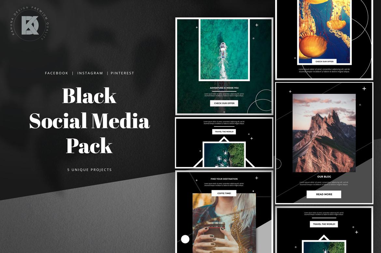 Black Social Media Pack