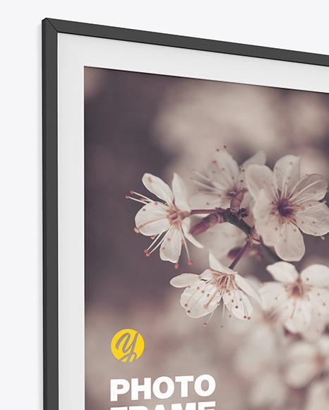 Photo Frame Mockup - Left Side View