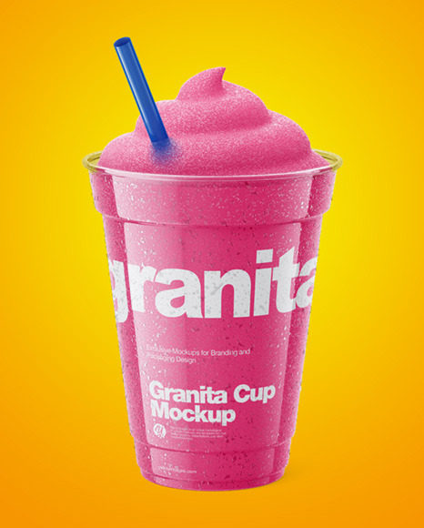 Granita Cup Mockup  - High-Angle Shot
