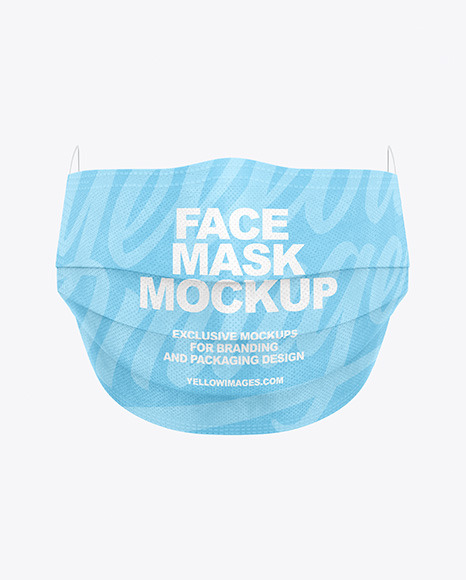Medical Face Mask Mockup In Apparel Mockups On Yellow Images