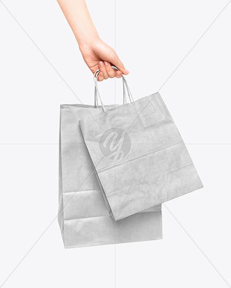 Paper Bag Logo Mockup