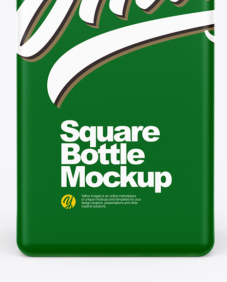 Download Matte Square Bottle Mockup PSD - Free PSD Mockup Templates