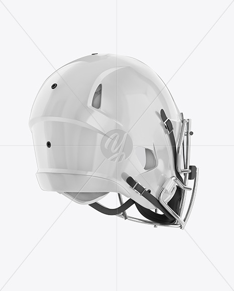 Download Matte American Football Helmet Mockup Right View Yellowimages