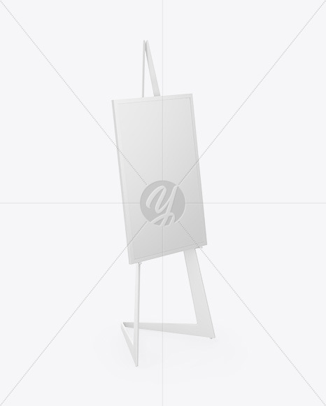 Easel With Frame Mockup - Half Side View