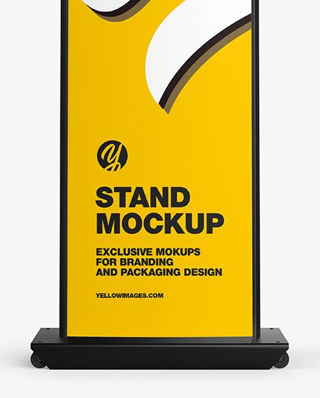 Metallic Stand w/ Plastic Front Mockup