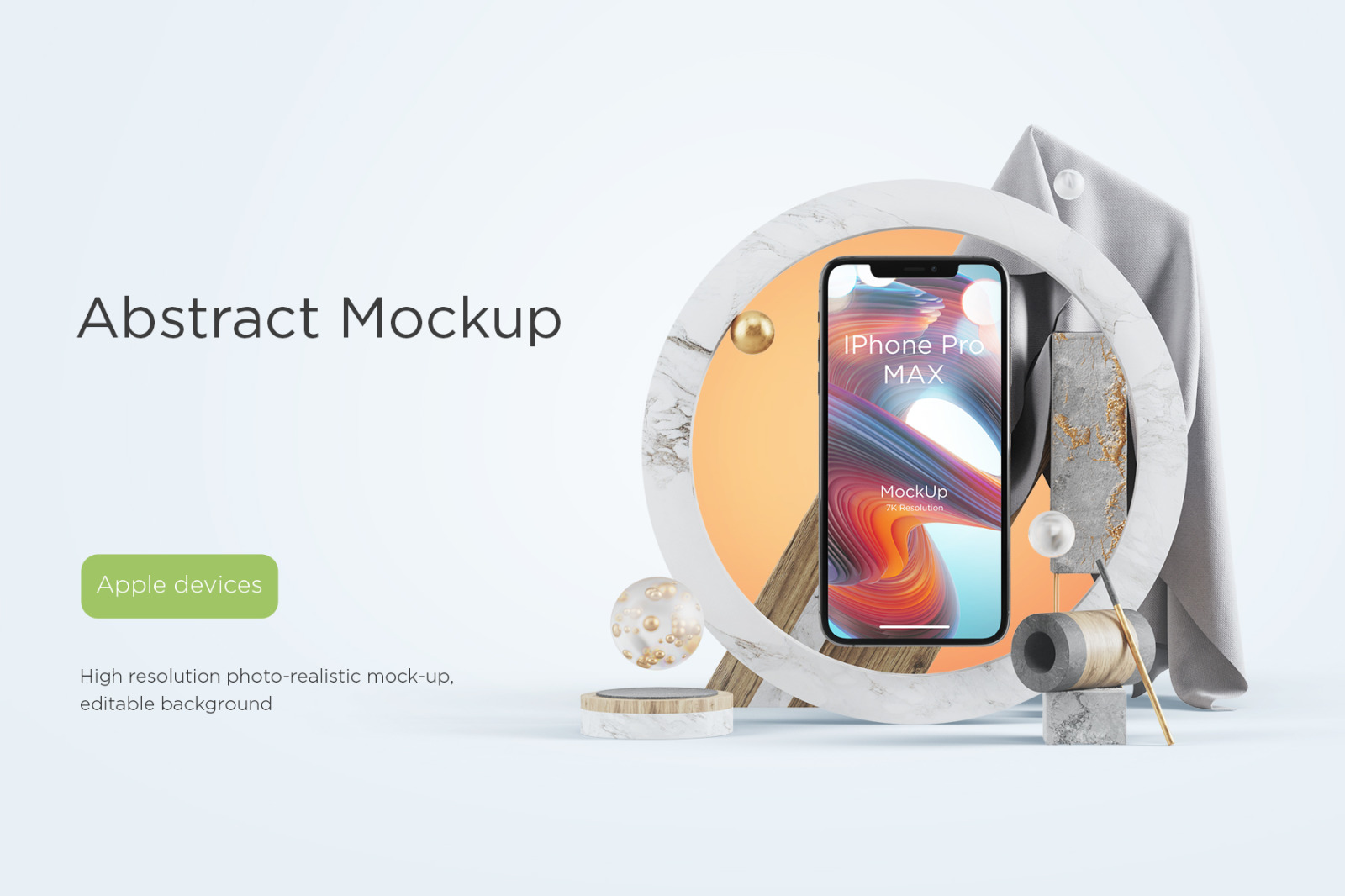 Abstract Apple Devices Mockups