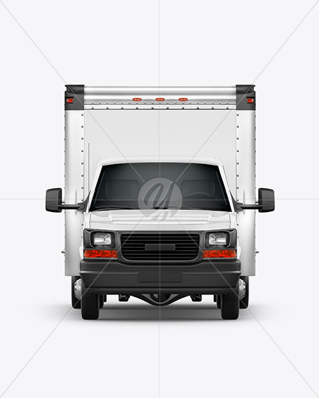 Box Truck Mockup - Front View - Yellowimages Mockups