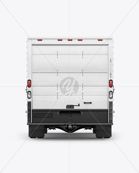 Box Truck Mockup - Back View - Yellowimages Mockups