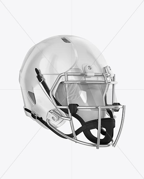 Download American Football Helmet Mockup Top Back Halfside View Yellow Images