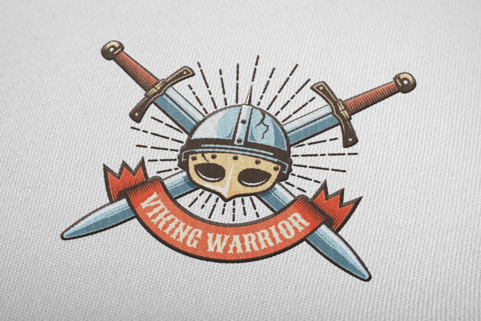 Viking Warrior Logo Retro Bundle