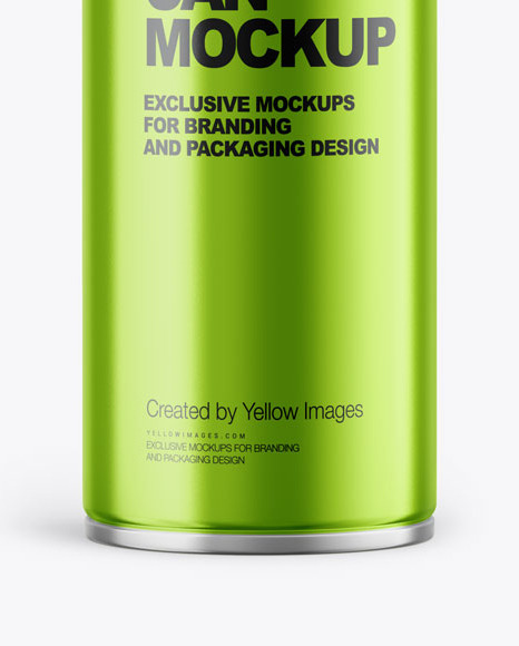 Metallic Spray Can Mockup