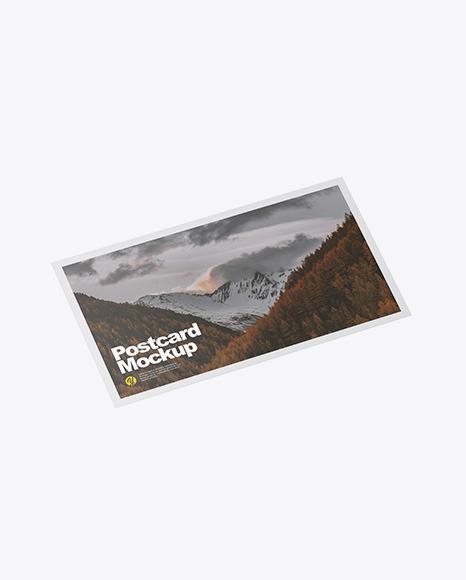 Paper Postcard Mockup