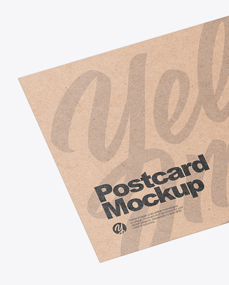Kraft Postcard Mockup In Stationery Mockups On Yellow Images