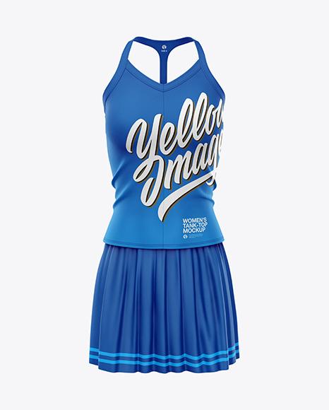 Women's Tennis Clothing Set Mockup