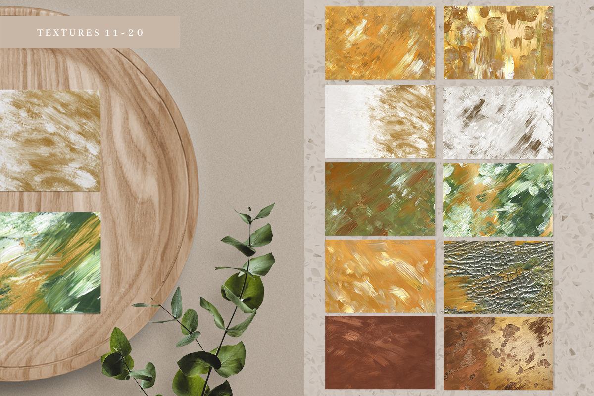 20 Golden Spring Acrylic Textures