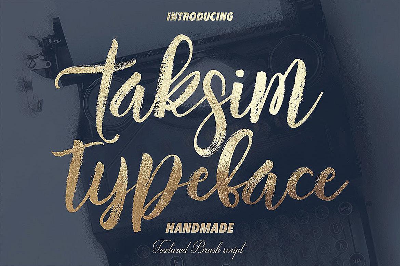 Taksim Brush Font