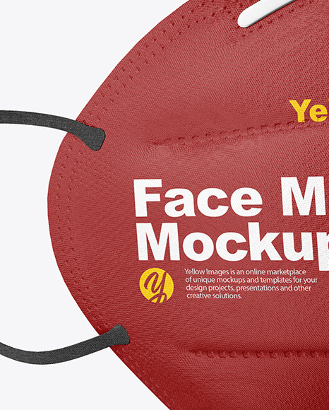 Face Mask Mockup In Apparel Mockups On Yellow Images Object Mockups